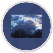 Winter's Solace Round Beach Towel