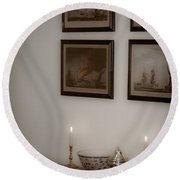 Winterthur By Candlelight Round Beach Towel