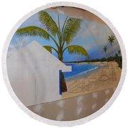 Wip 02- Tyler's Room Round Beach Towel