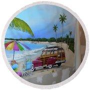 Wip 03- Tyler's Room Round Beach Towel