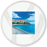 Wip Divi Little Bay Beach Round Beach Towel