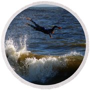 Wipe Out Round Beach Towel