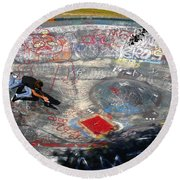 Wipe-out Round Beach Towel