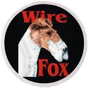 Wire Fox Terrier Round Beach Towel