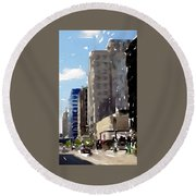 Wisconsin Ave 1 Round Beach Towel