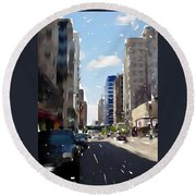 Wisconsin Ave 2 Round Beach Towel