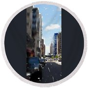 Wisconsin Ave 3 Round Beach Towel
