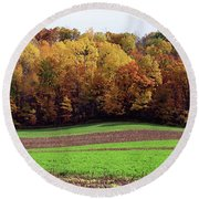 Wisconsin Colors Round Beach Towel