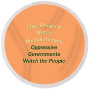 Wise Sayings About Government 5004.02 Round Beach Towel