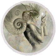 Wish On A Pearl Round Beach Towel