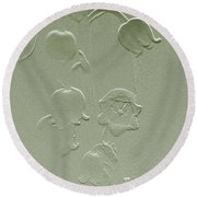 Wishing You Joy Greeting Card - Lily Of The Valley Round Beach Towel