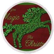 Wishing You Magic This Christmas Round Beach Towel