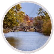 Wissahickon Autumn Round Beach Towel