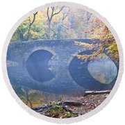 Wissahickon Creek At Bells Mill Rd. Round Beach Towel