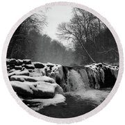 Wissahickon Snow Round Beach Towel