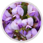 Wisteria Blossoms Round Beach Towel