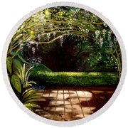 Wisteria Shadows Round Beach Towel