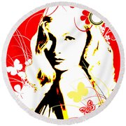 Wistful Flutter Round Beach Towel