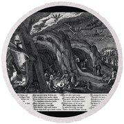 Witches Sabbath, 1630 Round Beach Towel