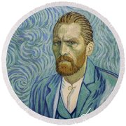 With A Handshake - Your Loving Vincent Round Beach Towel