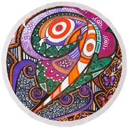 With Deep Thoughts And Tears - Vi Round Beach Towel