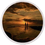 With You Round Beach Towel