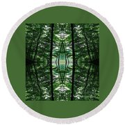 Within Another Dimension  Round Beach Towel
