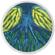 Without Light Round Beach Towel