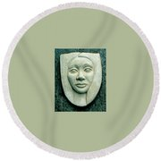 Without Veils Round Beach Towel