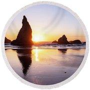 Wizard Reflections Round Beach Towel