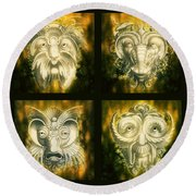 Wizard Rogue's Gallery Round Beach Towel