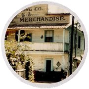 Wo Chong General Store Courtland Ca Round Beach Towel