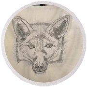 Wolf Round Beach Towel