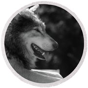 Wolfie Round Beach Towel
