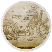 Wolfmueller Motor Cycle 1894 Round Beach Towel