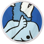 Wolve Round Beach Towel