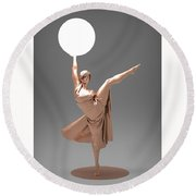 Woman Lamp Number Three Round Beach Towel