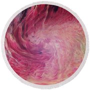 Woman Of Fire Round Beach Towel