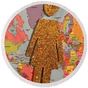 Woman Of The World Round Beach Towel