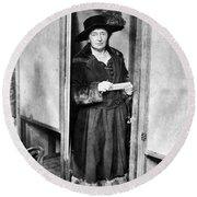 Woman: Voting, 1920 Round Beach Towel
