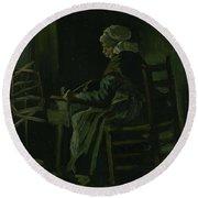 Woman Winding Yarn Nuenen, March 1885 Vincent Van Gogh 1853 - 1890 Round Beach Towel