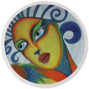 The Look Of Love  Round Beach Towel