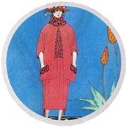 Womens Fashion, George Barbier, 1921 Round Beach Towel