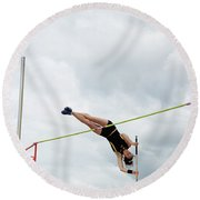Womens Pole Vault 3 Round Beach Towel