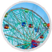 Wonder Wheel Amusement Park 1 Round Beach Towel