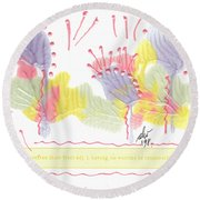 Wonderfully Carefree Round Beach Towel