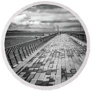 Wood And Pier Round Beach Towel