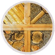 Insect Hotel #1 Round Beach Towel