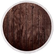 Wood Round Beach Towel
