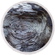 Wood Grain Of Buena Vista  Round Beach Towel